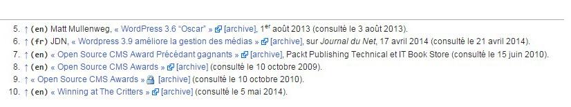 comment mettre en avant les liens externes dans wordpress comme sur wikipedia